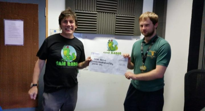£750 Raised for SAM RADIO